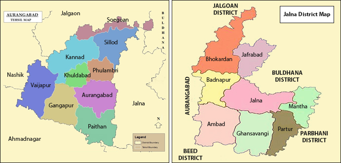 aurangabad and jalna district map